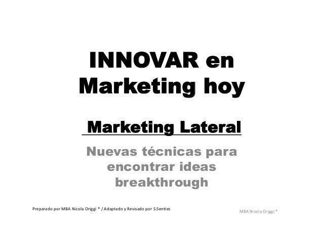 Innovar en Marketing Hoy