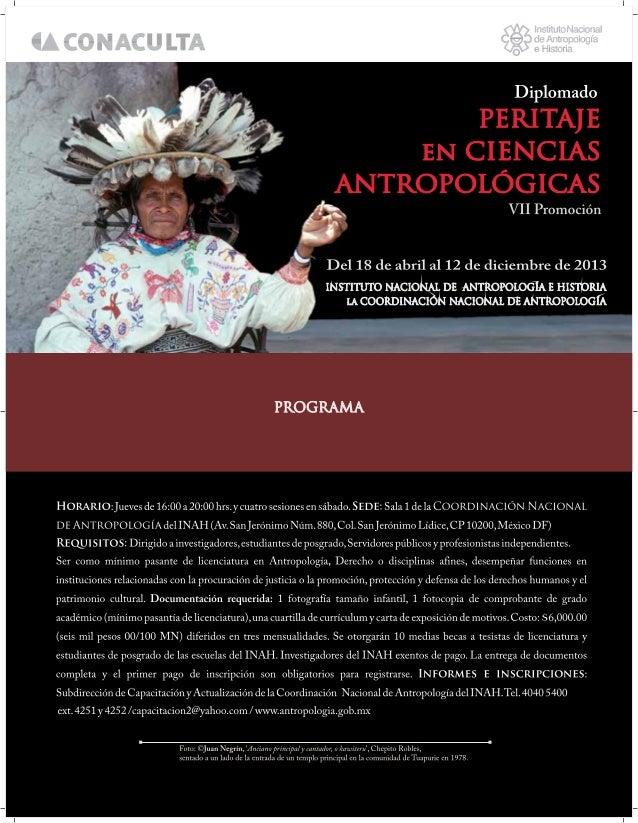 Diplomado peritaje antropológico INAH 2013