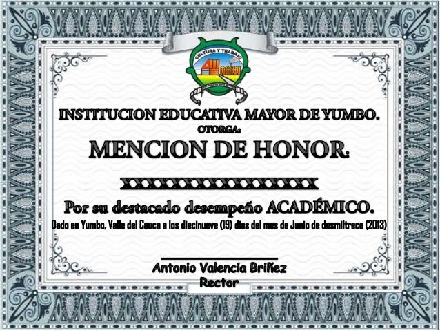 Diploma with Honors