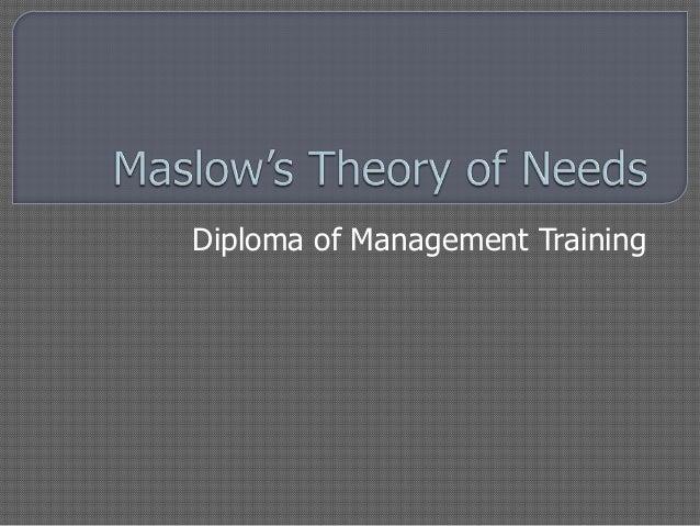Diploma of Management Training