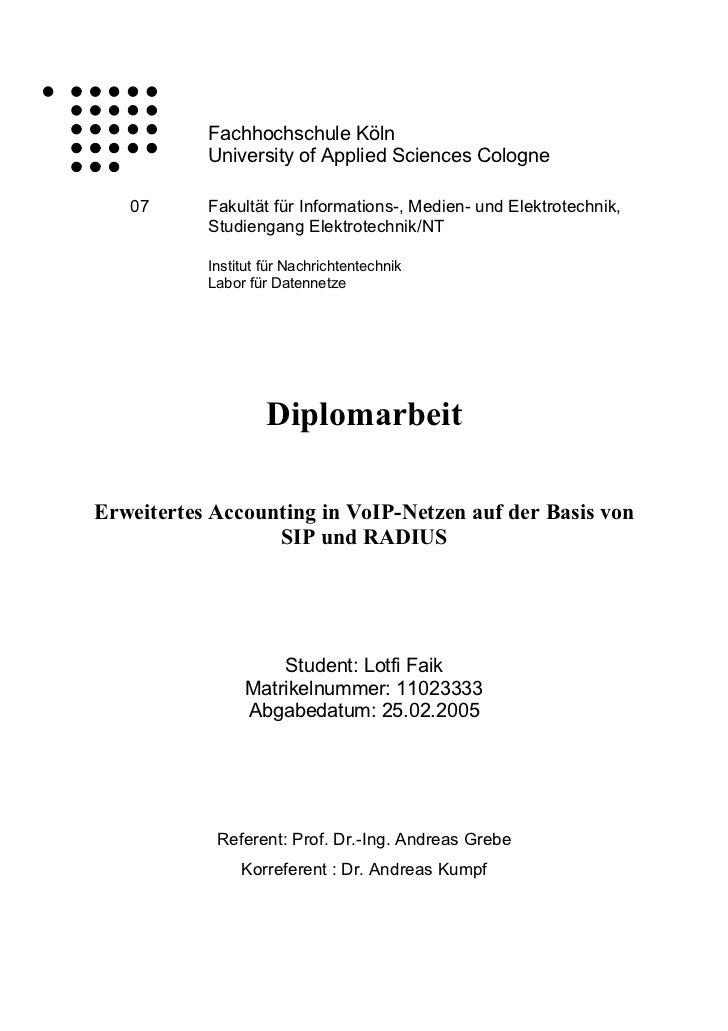 Fachhochschule Köln           University of Applied Sciences Cologne   07      Fakultät für Informations-, Medien- und Ele...