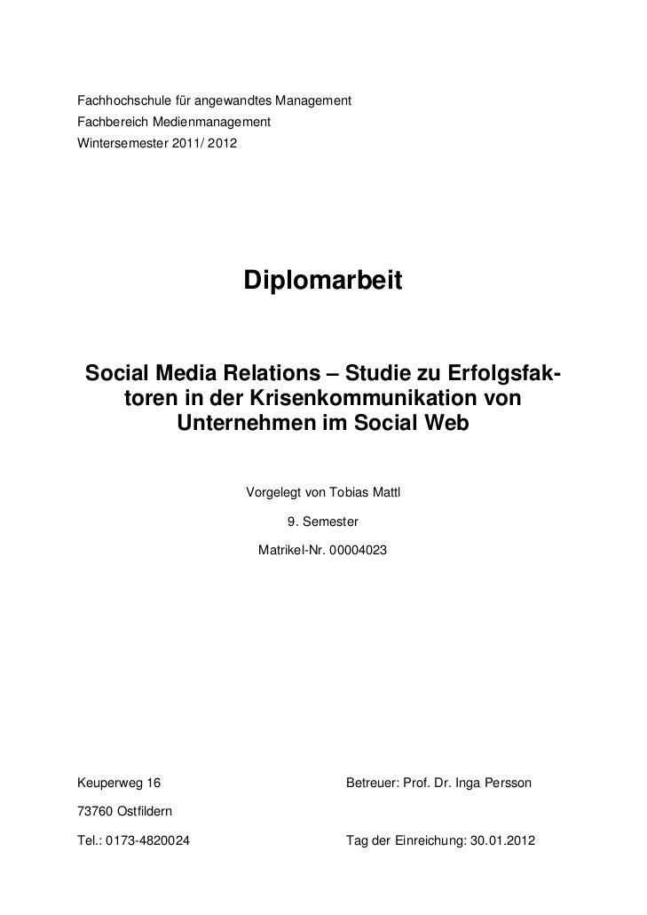 Social Media Relations - Studie zu Erfolgsfaktoren in der Krisenkommunikation im Social Web