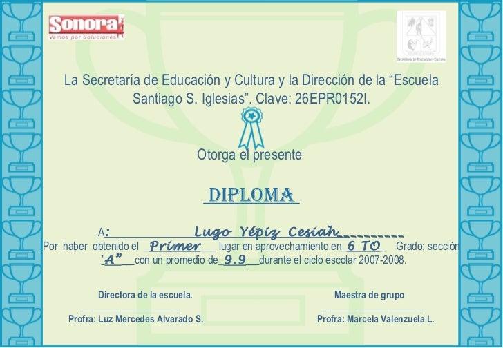 Diplomas De Reconocimiento Primaria | MEJOR CONJUNTO DE FRASES