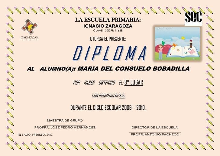 LA ESCUELA PRIMARIA:                                   IGNACIO ZARAGOZA                                        CLAVE : 32D...