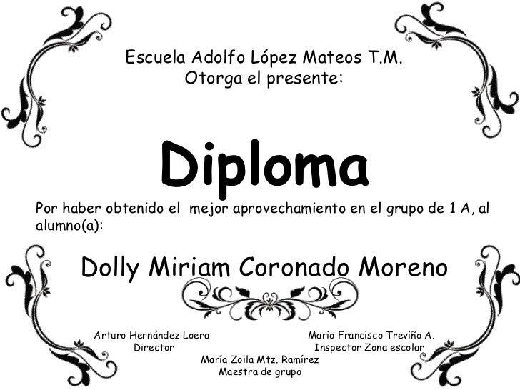 Ejemplos De Diplomas