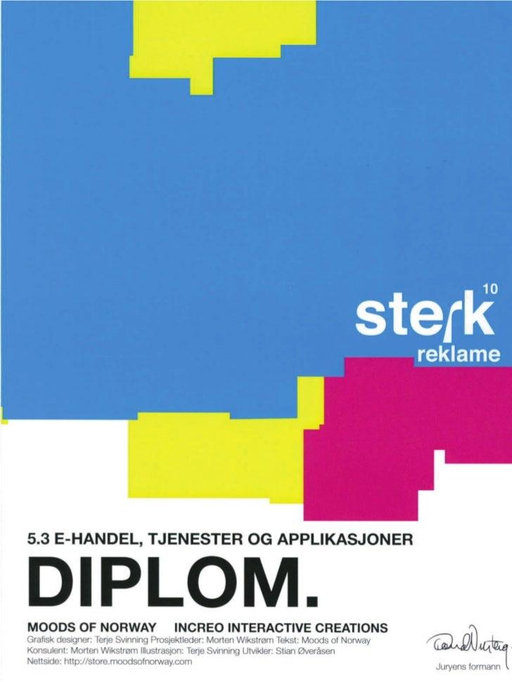 Diplomer Sterk Reklame 2011