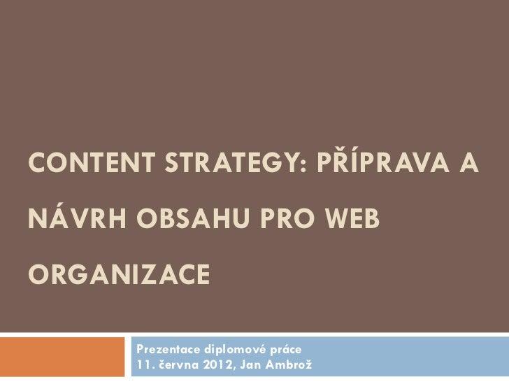 Content strategy (obsahová strategie)