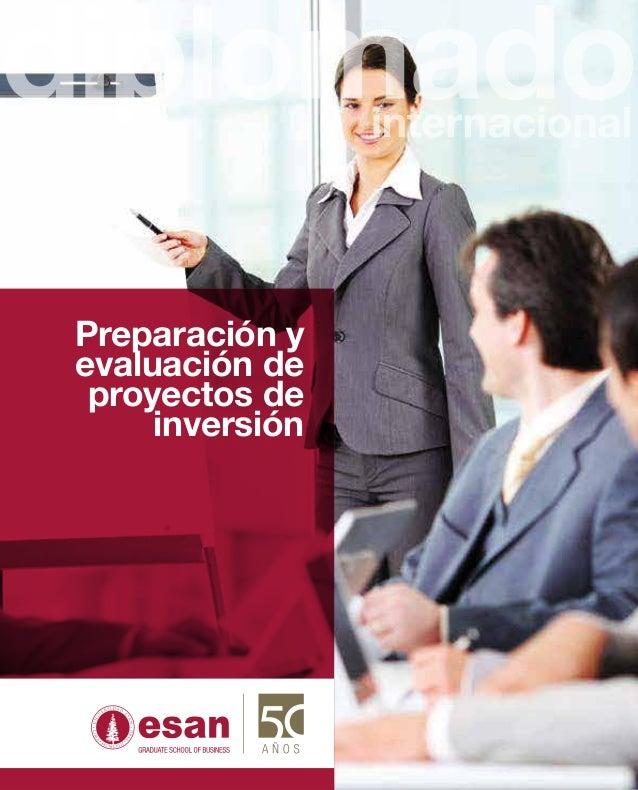 Preparación yevaluación de proyectos de     inversión