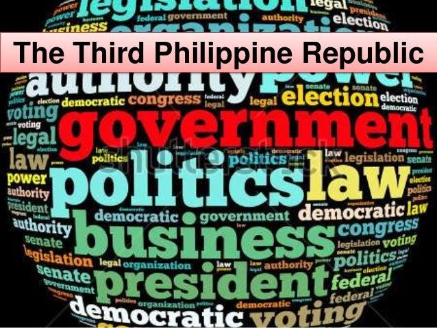 The Philippine 3rd republic