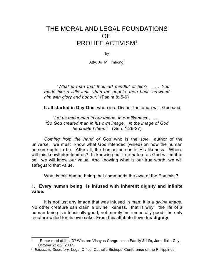 prolife activism