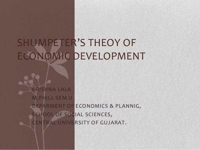 Schumpeter Theory of Economic Development