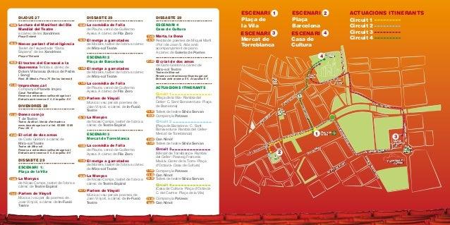 ESCENARI 3 Mercat de Torreblanca ESCENARI 1 Plaça de la Vila ESCENARI ACTUACIONS ITINERANTS ESCENARI 4 Plaça Barcelona Cas...