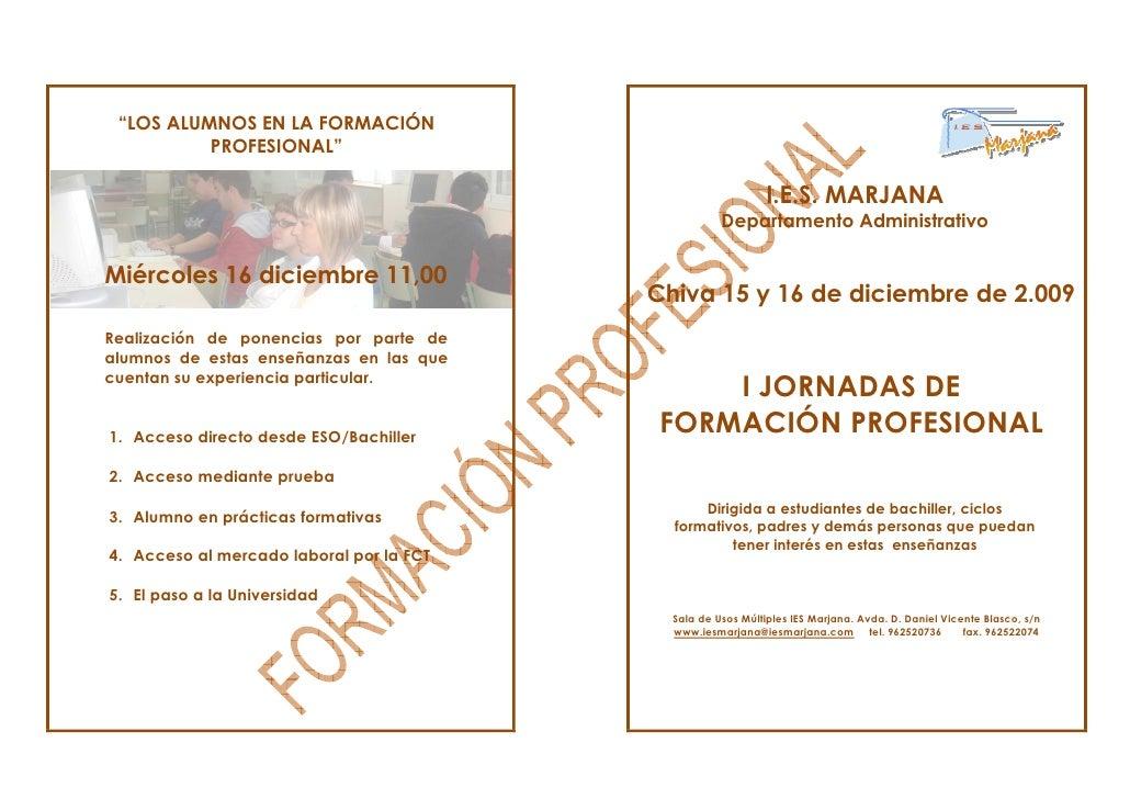 """""""LOS ALUMNOS EN LA FORMACIÓN           PROFESIONAL""""                                                                I.E.S. ..."""