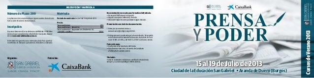 15al19deJuliode2013NúmerodePlazas:200Las plazas se irán completando por riguroso orden de matrículahasta cubrir el número...