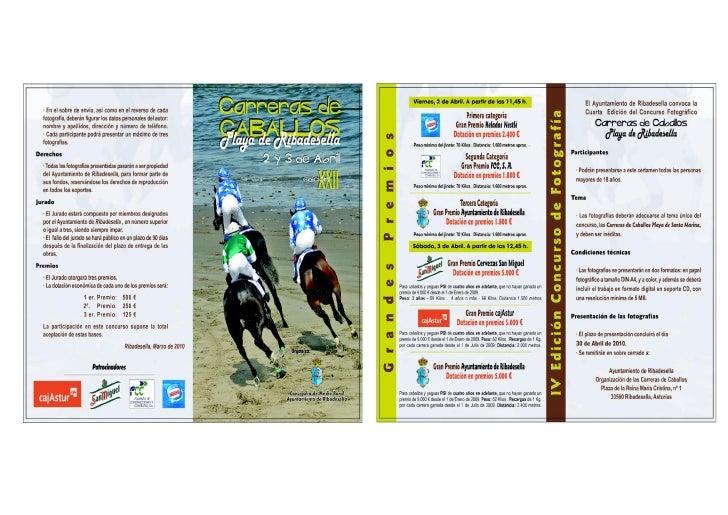 Programa Carreras De Caballos 2010 - Ribadesella