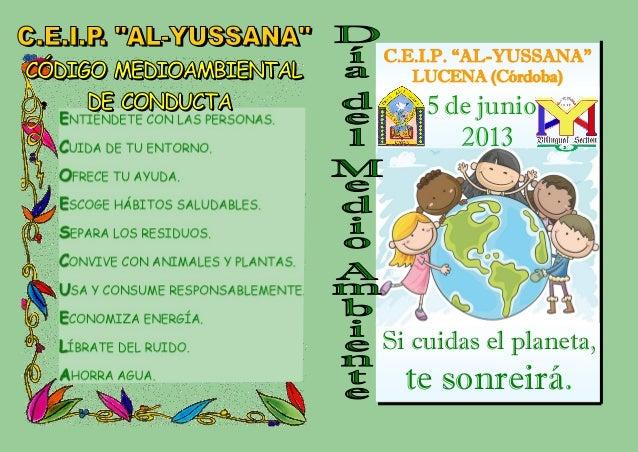 """el planeta,te sonreirá.C.E.I.P. """"AL-YUSSANA""""LUCENA (Córdoba)5 de"""
