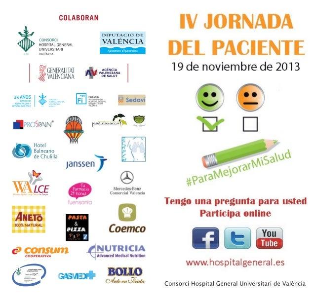 IV Jornada del paciente en el Hospital General Universitario de Valencia