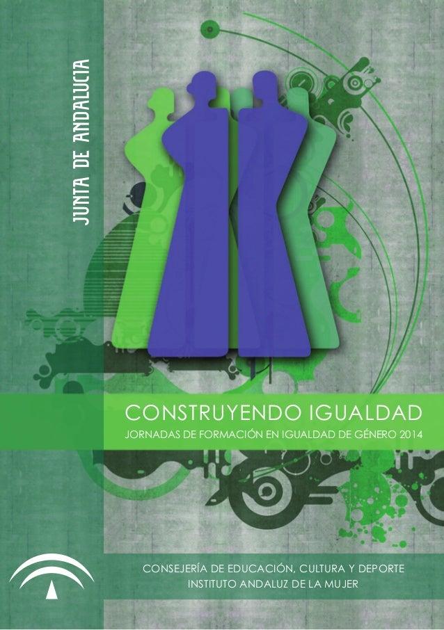 Diptico jornadas 2014 Construyendo Igualdad #JornIgualdadCádiz
