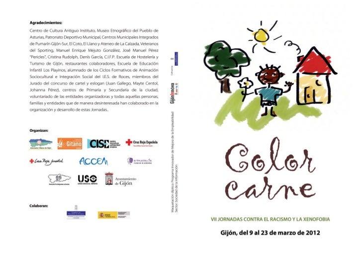 Díptico VII Jornadas contra el racismo y la xenofobia en Gijón 2012