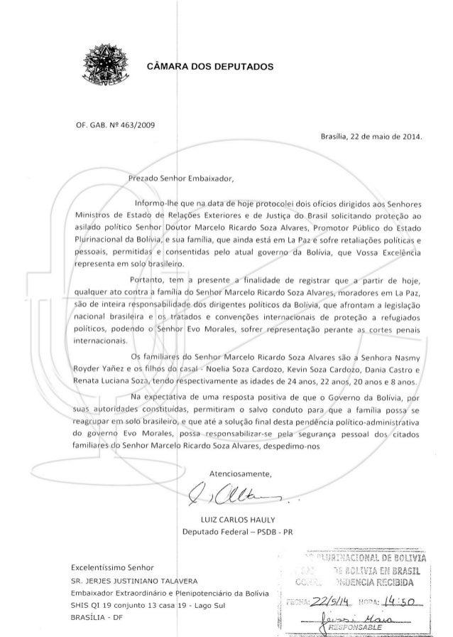 Diputado brasilero exige seguridad para la familia de marcelo soza en la paz