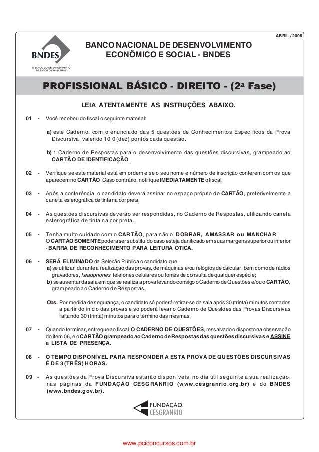 ABRIL / 2006                          BANCO NACIONAL DE DESENVOLVIMENTO                              ECONÔMICO E SOCIAL - ...