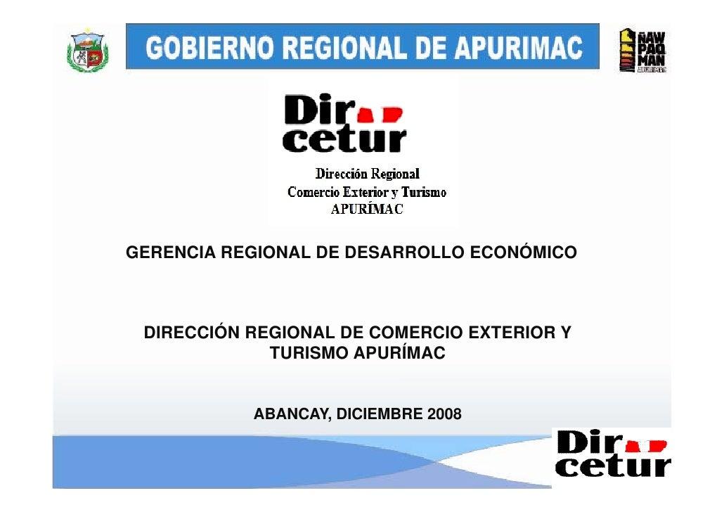 Presentación de la Audiencia Publica 2008 - Dircetur