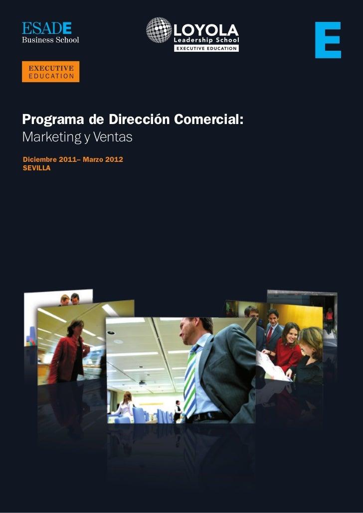 Programa de Dirección Comercial:Marketing y VentasDiciembre 2011– Marzo 2012SEVILLA