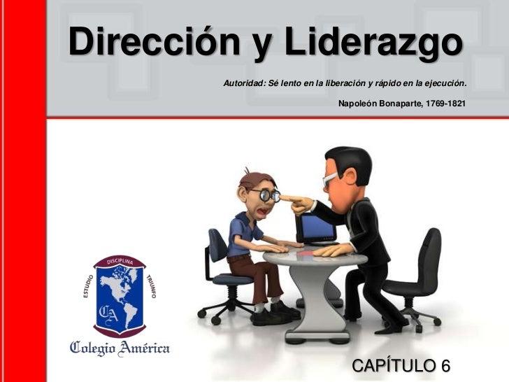 Dirección y liderazgo cap. 6.ppt