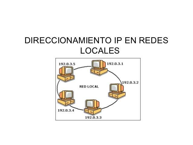 DIRECCIONAMIENTO IP EN REDES          LOCALES