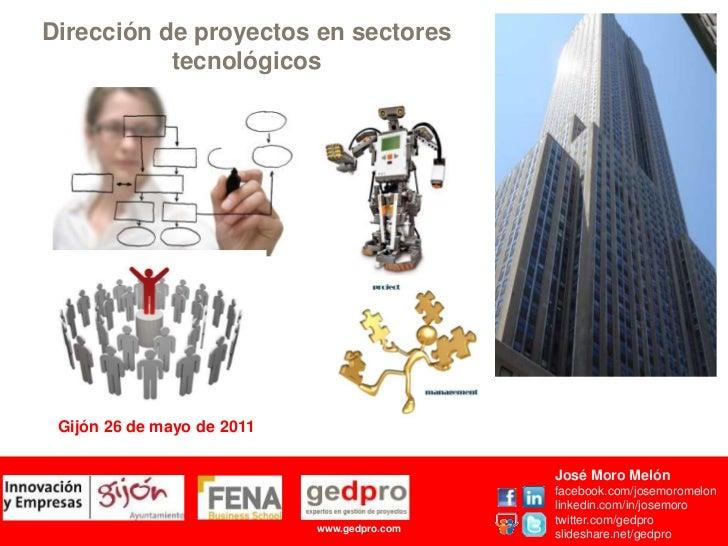 Direccion de proyectos en sectores tecnologicos