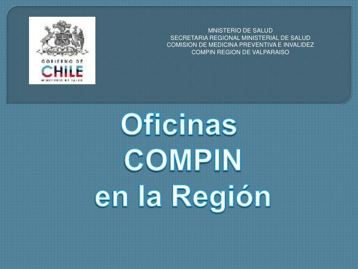 MNISTERIO DE SALUD<br />SECRETARIA REGIONAL MINISTERIAL DE SALUD<br />COMISION DE MEDICINA PREVENTIVA E INVALIDEZ<br />COM...