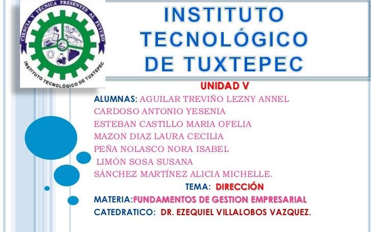 Direccion fundamentos de gestion emp. v unidad