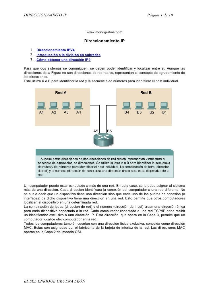 Direccionmiento Ip