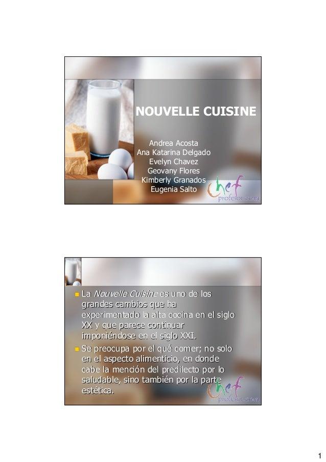 Direccion nouvelle cuisine