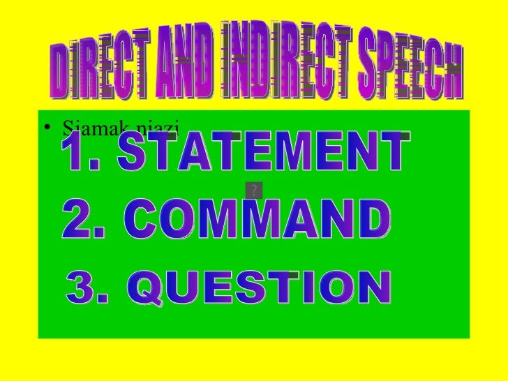 Direct and-indirect-speech