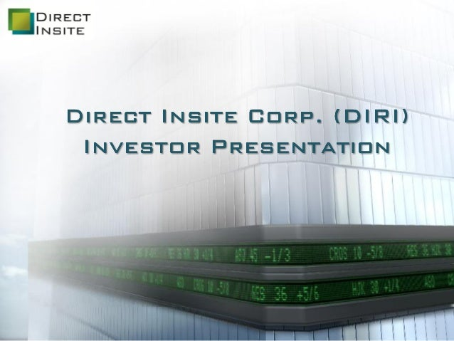 Direct Insite Investor Presentation April 2014