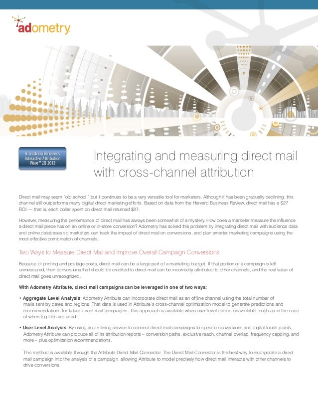Direct Mail Marketing Attribution