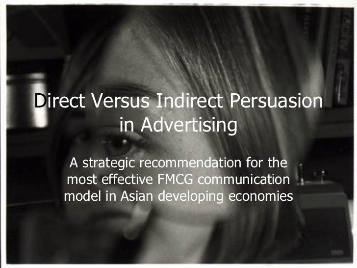Direct versus Indirect Advertising