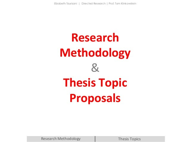 introduction for thesis proposal