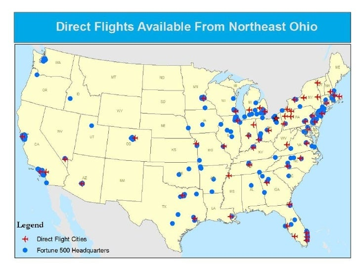 Cleveland Plus Access : Direct flights from Northeast Ohio to Fortune 500 Headquarters