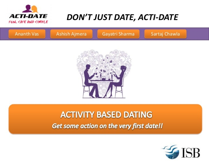 DON'T JUST DATE, ACTI-DATEAnanth Vas   Ashish Ajmera   Gayatri Sharma   Sartaj Chawla