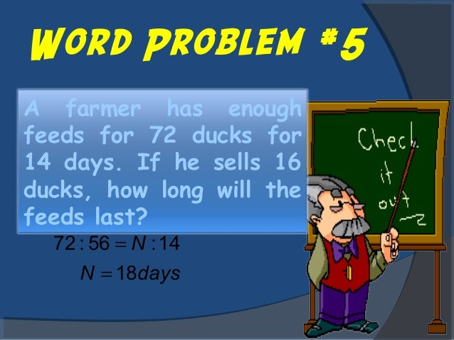 How To Solve A Proportion Word Problem