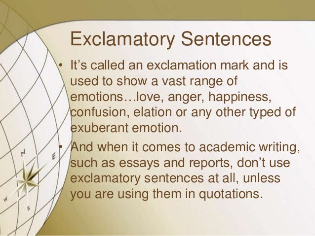 What is an exclamatory essay?