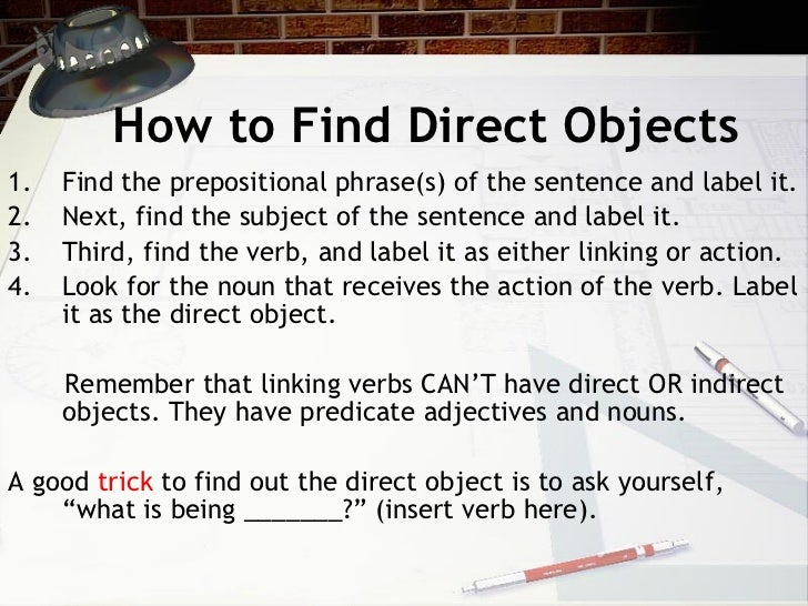 Direct  U0026 Indirect Objects