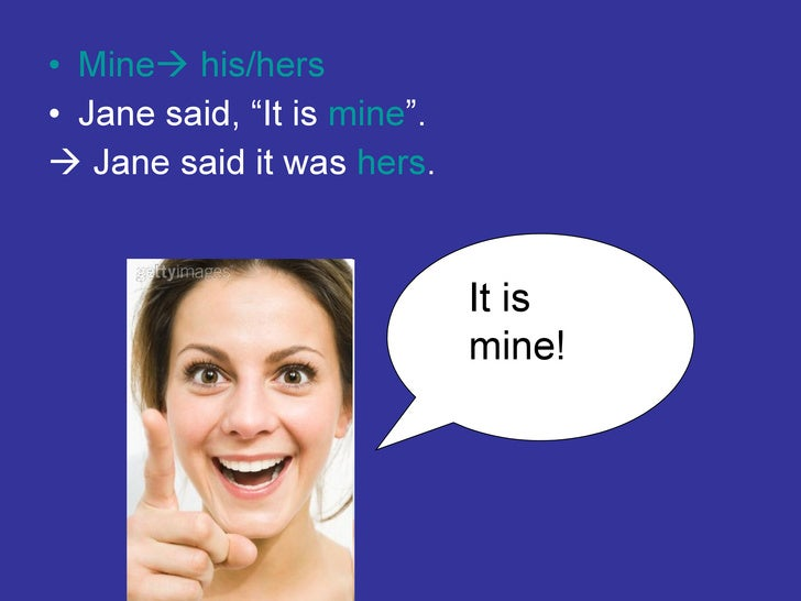how to change direct speech to indirect speech