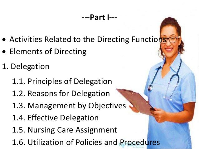 directing in nursing management pdf