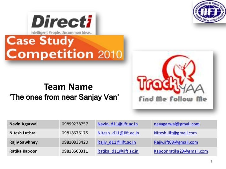 Directi Case Study Competition