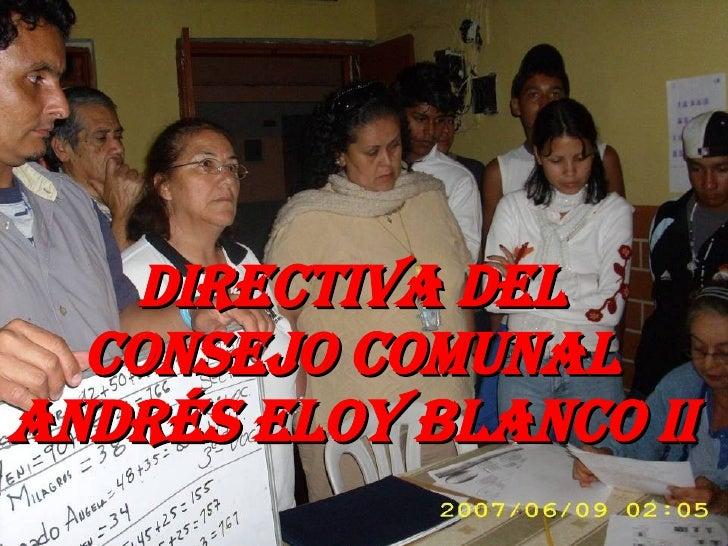 Directiva del Consejo Comunal Andrés Eloy Blanco II