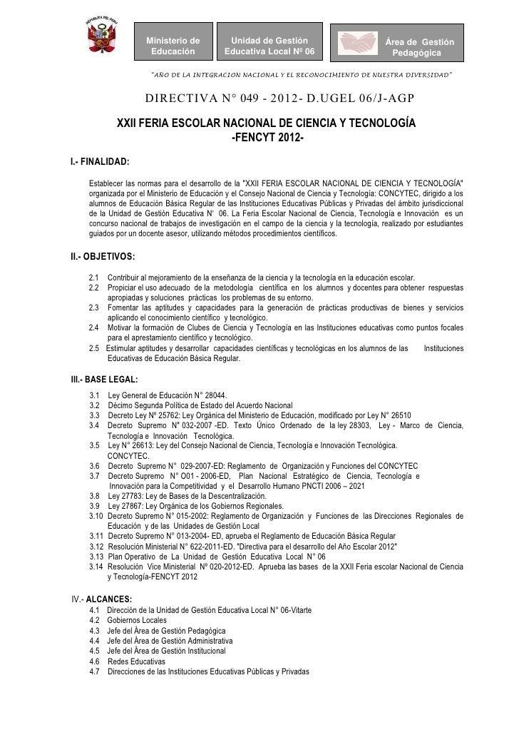 Ministerio de            Unidad de Gestión                               Área de Gestión                       Educación  ...