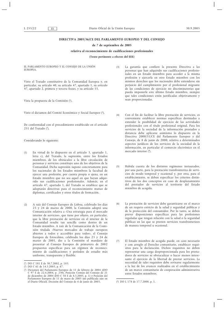 Directiva 2005/36/CE